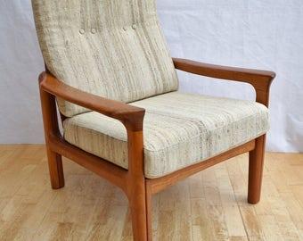 Mid Century Retro Danish Juul Kristensen for Glostrup Lounge Arm Chair 1960s 70s
