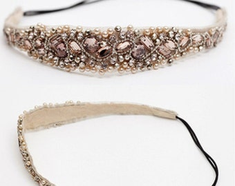 Crystal Beads Hairband Hair Accessories Headbands Wedding Hair Jewelry Fashion
