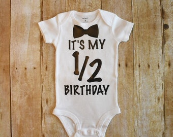 1/2 birthday onesie