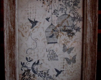 "Handmade canvas wall art, framed canvas art ""Imagine Dream"""