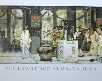 Sir Lawrence Alma-Tadema poster - The vintage festival - vintage museum print - offset lithograph - mint condition