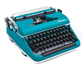 Aqua blue 50s Olympia typewriter