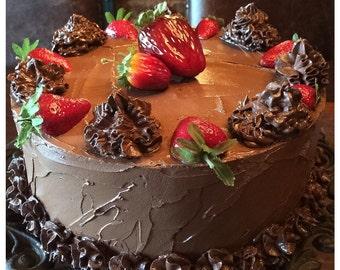 Chocolate Strawberry fake cake.