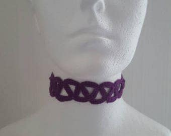 Handmade Crochet Choker Purple