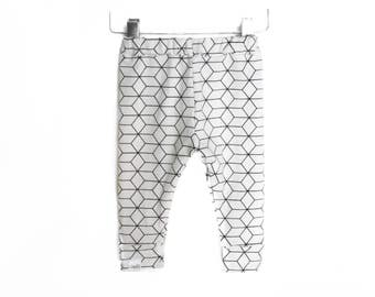 Geometric White legging