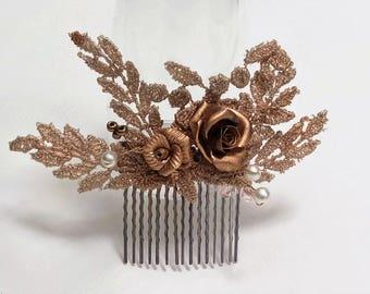 Peineta-Diadema - headband flowers-vintage style-DIAdem of novia-tocados of novia-corona of flores-tocados - romantic style-
