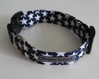 Alex Dog Collar - Dark Blue