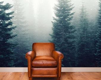 woodlands mural adhesive wall mural adhesive wallpaper removable wallpaper removable wall mural