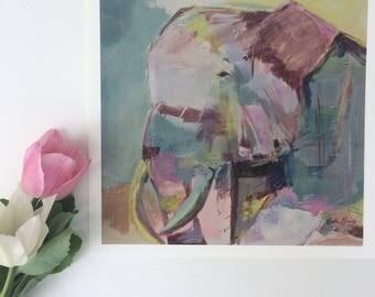 High Quality Premium Giclee Fine art elephant home decor PRINT