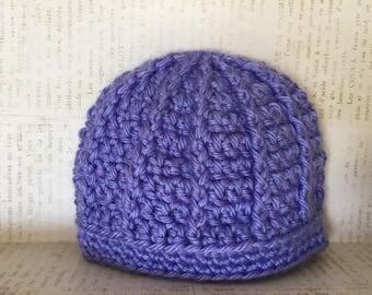 Crochet girl baby hat