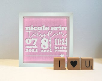 Hello Baby Frame (lower case names)