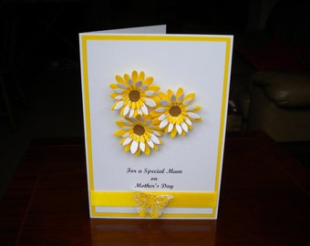 Mother's Day/Special Mum Card/Personalised/Handmade