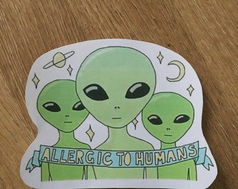 XXL alien sticker/tumblr, grunge/allergic to humans