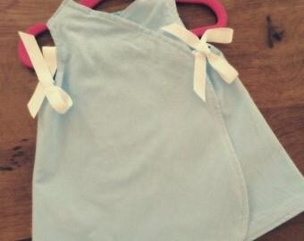 Reversible girls wrap pinafore
