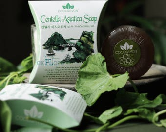 Centella Asiatica Vegetable Soap/Indochina special treatment//Soothe Sensitive Skin/Professional skincare/100% natural