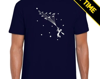 Glow in the Dark! | Le Petit Prince | The Little Prince | Flock of Birds | Antoine de Saint-Exupéry | Poetic | Cosmic | T Shirt
