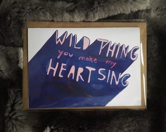 Wild Thing! Card