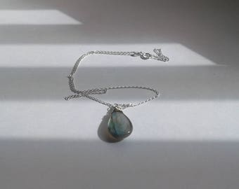 Labradorite Pendant with Sterling Silver