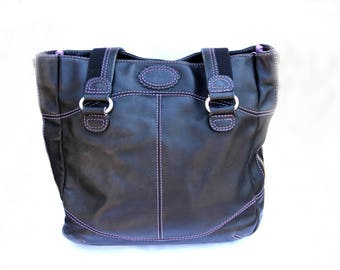 Vintage Tote Bag leather Handbag Leather Tote Bag shoulder bag women bag Black bag Leather bag  Handle Bag Market Bag