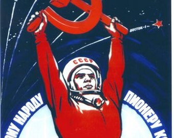 Vintage Soviet Union Cosmonaut Propaganda Poster A3/A2/A1 Print