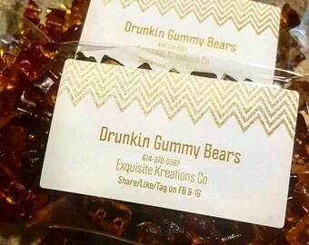 Drunkin Gummy Bears- Hennessy