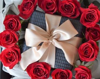 Premium Black -  Recycled Cotton Gift Wrap