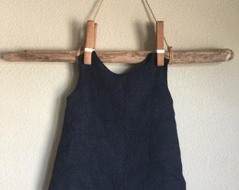 Breeze Tank, linen, open back, childrens clothing, waldorf, natural, minimalist