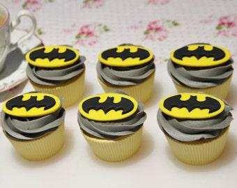 Batman fondant cupcake toppers