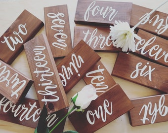 Table Numbers Wedding. Wooden Table Numbers. Rustic Wedding Decoration Centerpiece Table Numbers.