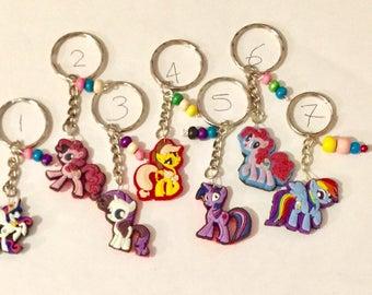 My little pony keyring, My little pony keychain, keyring, keychain item240 by CraftyLittleMonkeyGB