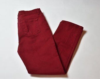Vintage Red High Waisted Mom Jeans