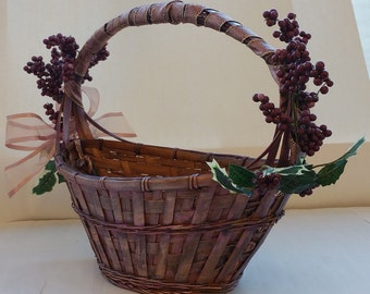 "Large Wine Gift Basket Centerpiece ""LA BELLA VITA""  ""Amour Rose"""