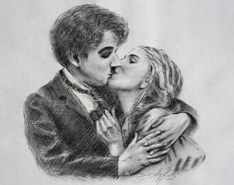 Charlie Chaplin | Original Design | Charcoal Pencil | Love!