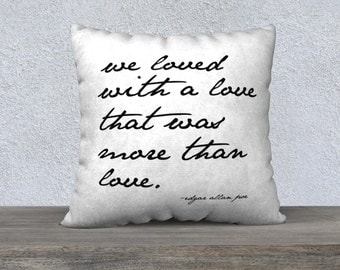 We Loved Quote Throw Pillow, home decor, wedding gift, engagement present, housewarming gift, cushion cover