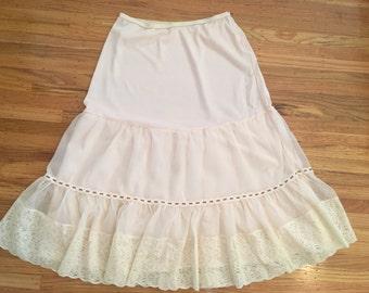 Spring Sale - Vintage blush pink half slip