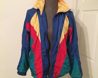 Vintage Athletic Works windbreaker in size medium! Colorblock fabulousness
