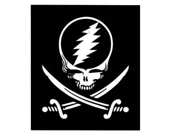 4 Inch Steal Your Face Pirate Sticker