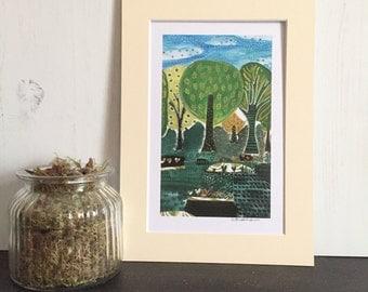 A4 Print -Bloom Trees - Digital Print - Tree Print - Nature print