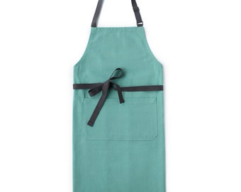 Seafoam Green Chef's Kitchen Apron (Regular Size)
