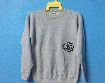 Rare!!vintage 90s volcom sweatshirt size S