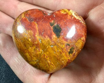 BRECCIATED JASPER Heart Crystal Stone Heart Healing Crystals and Stones - Prefect for crystal collections and more! GemCity
