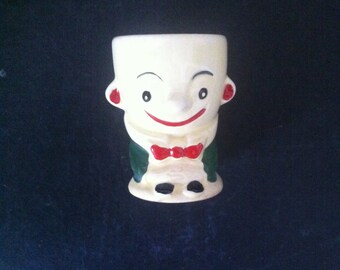 VINTAGE JAPANESE EGG Cup 1950s Clown