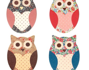 4 Owl Floral Nail Files - Assorted - Sass & Belle Collection. Gift idea. Stocking filler. Beauty. Personal care. Mothers Day
