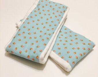 Rosebud Burp Cloth - Cloth Diaper Burp Cloth - Baby Essential - Baby Shower Gift
