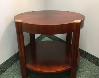 vintage baker cherry finish round side table bake furniture baker side table baker