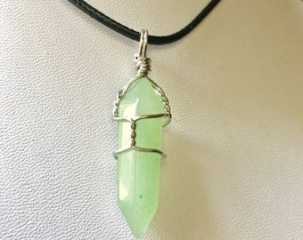 Wrapped Green Aventurine Pendant