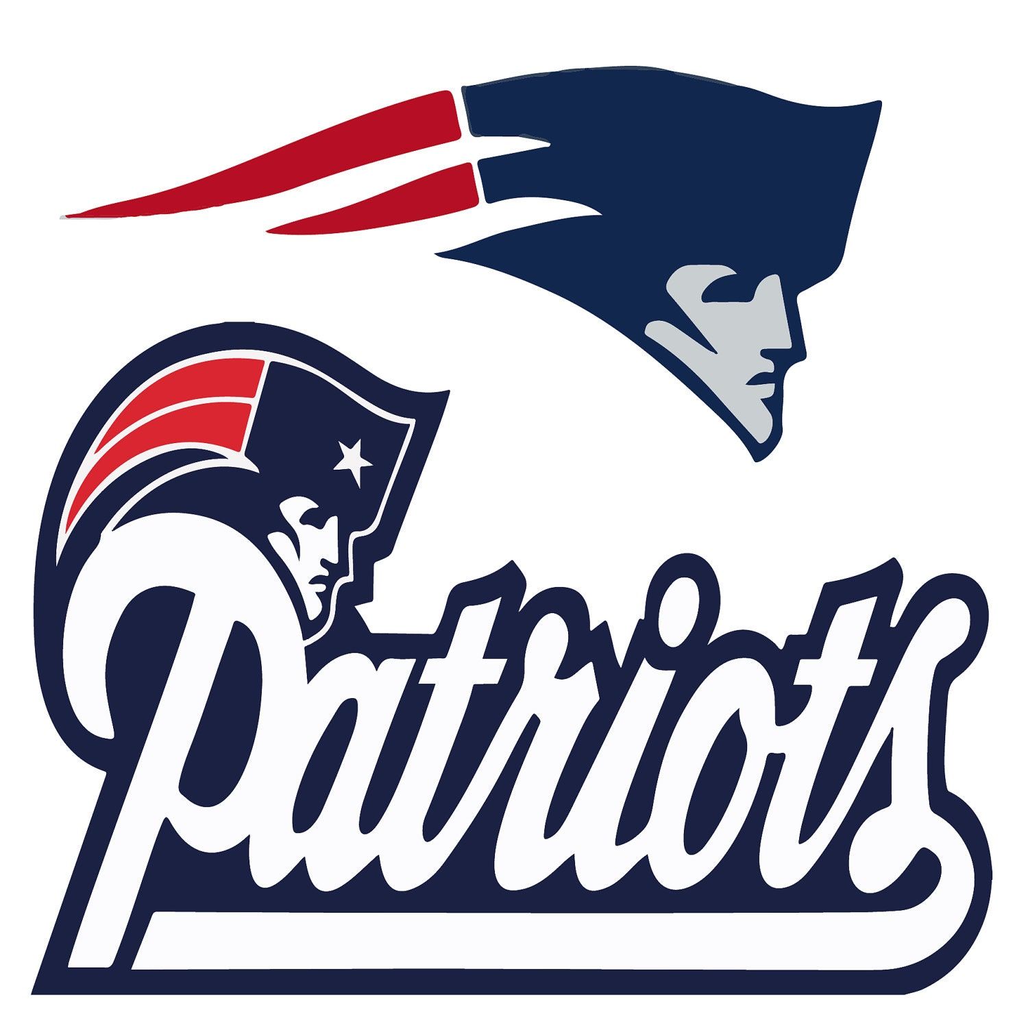 Gutsy image in new england patriots printable logo
