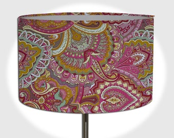 Pink/Persian lamp shade diameter 40 cm / 30 cm