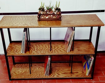 Entertaiment Center // Stereo Console // Record Cabinet // Vinyl Record Storage // Record Stand, storage, display