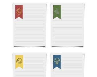 Hogwarts House (Harry Potter) Printable Stationary Set for Letters & Snail Mail